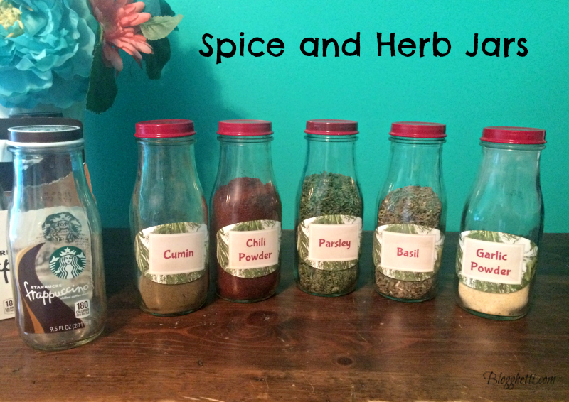spice and herb jars