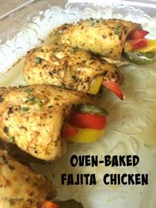 Oven-Baked Fajita Chicken