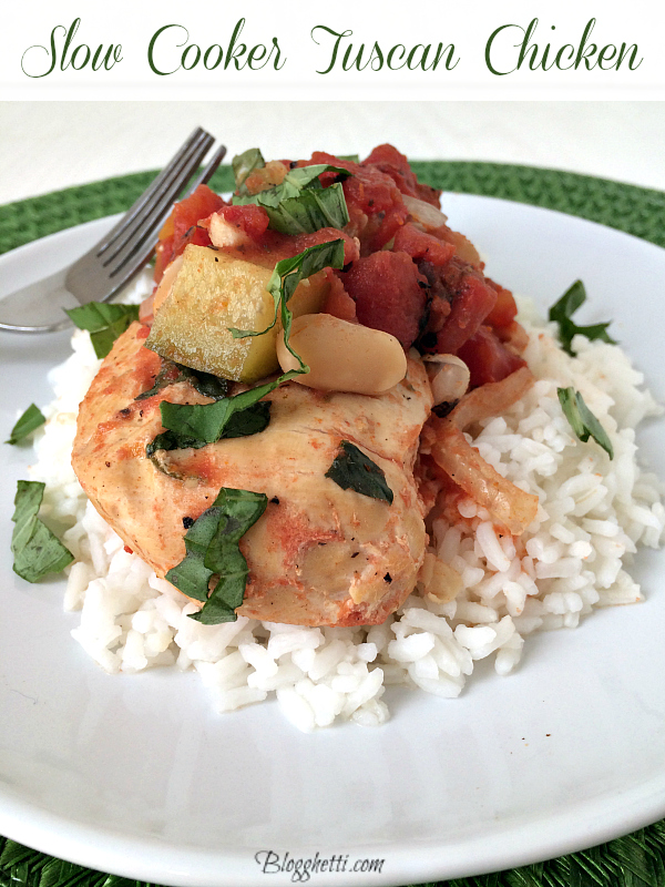 Slow Cooker Tuscan Chicken plated