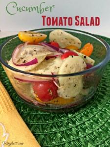 Meatless Monday – Cucumber Tomato Salad