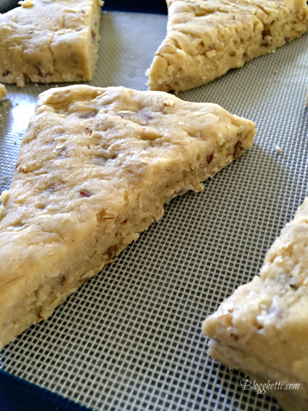 up close scones dough