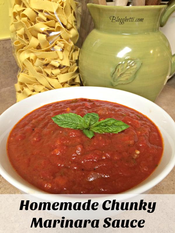 Homemade Chunky Marinara Sauce