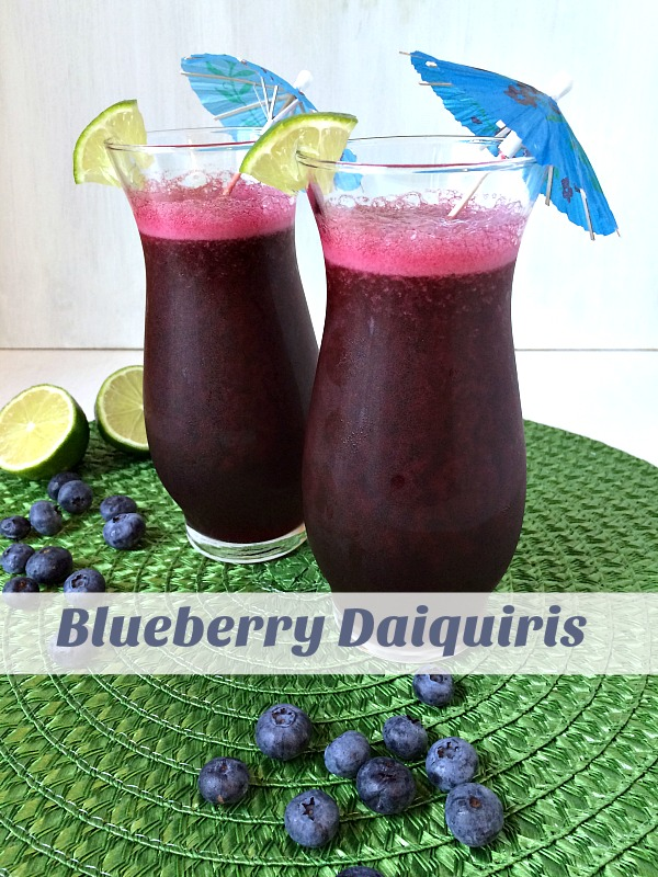 Kick back with a blueberry daiquiri and enjoy the last days of summer. The fresh blueberries with the fresh lime juice and the added rum makes this daiquiri a refreshing treat!