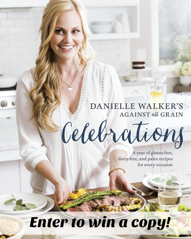Because I love this cookbook and know you will too, I am giving ONE lucky person their very own copy of Danielle Walker's Against all Grains - Celebrations. Entering could not be easier – Simply leave me a comment stating what one food you could not live without is and then complete the Rafflecopter (I promise, it's painlessly easy). One winner will be randomly chosen and have 48 hours from notification to accept the prize via email.
