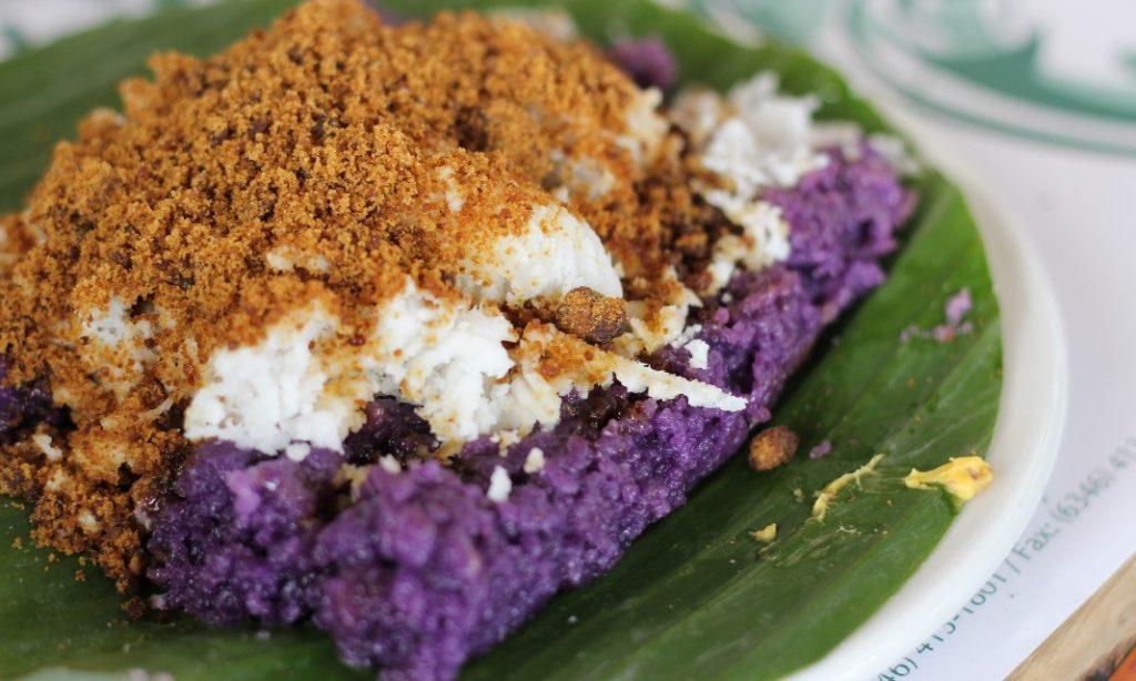 Puto Bumbong is a favorite Christmas dessert in the Philippines