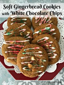 Soft Gingerbread Cookies with White Chocolate Chips