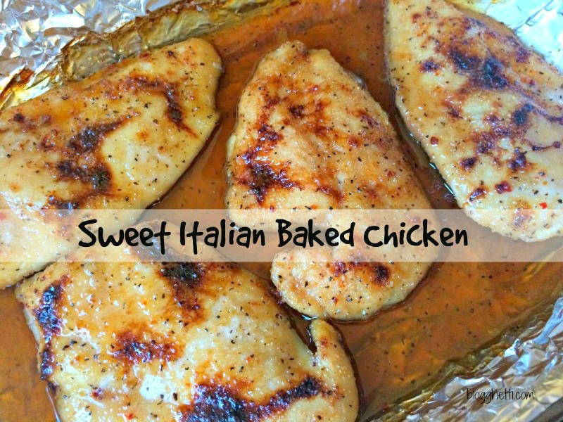 Sometimes the best recipes are those that are not complicated by a long list of ingredients or elaborate cooking techniques. I love this Sweet Italian Baked Chicken recipe for a few reasons: it's easy to prepare, cooking time is under 30 minutes, and the best is that it only contains 3 ingredients. That short list of reasons doesn't take away from the fact that this baked chicken comes out of the oven so moist, sweet, and delicious.
