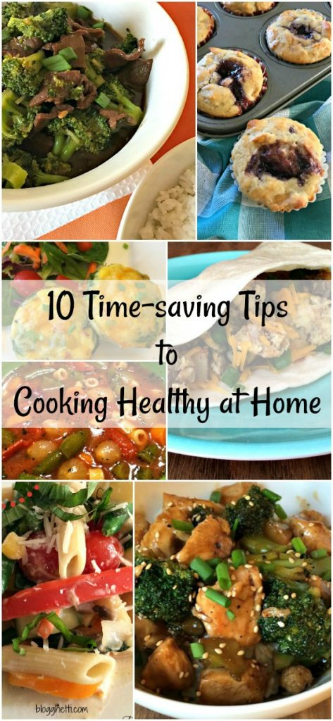 Sometimes getting a healthy meal on the table takes more time than we have. Try these 10 time-saving tips to cook healthier meals at home. You'll be saving time, money, and eating healthier in no time.