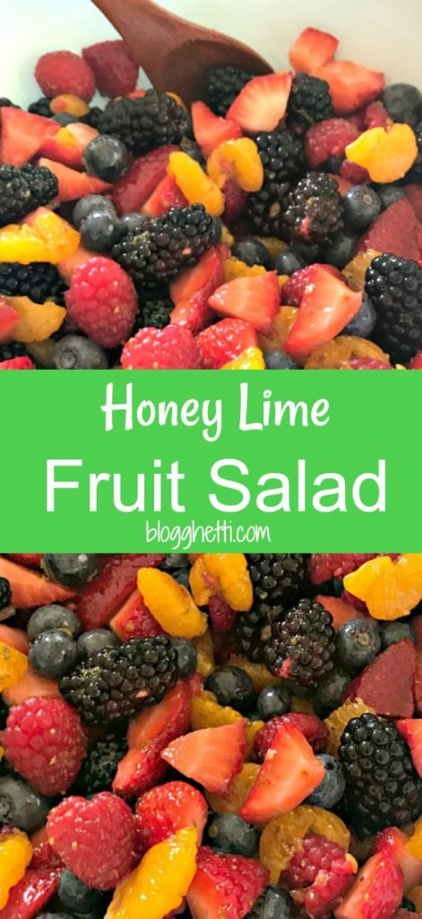 546693b449c5a Celebrate the summer with this Fresh Fruit Salad that is coated with a  delicious Honey Lime