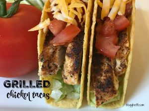 Your Taco Tuesday just got better with these easy Grilled Chicken Tacos with a homemade taco seasoning.