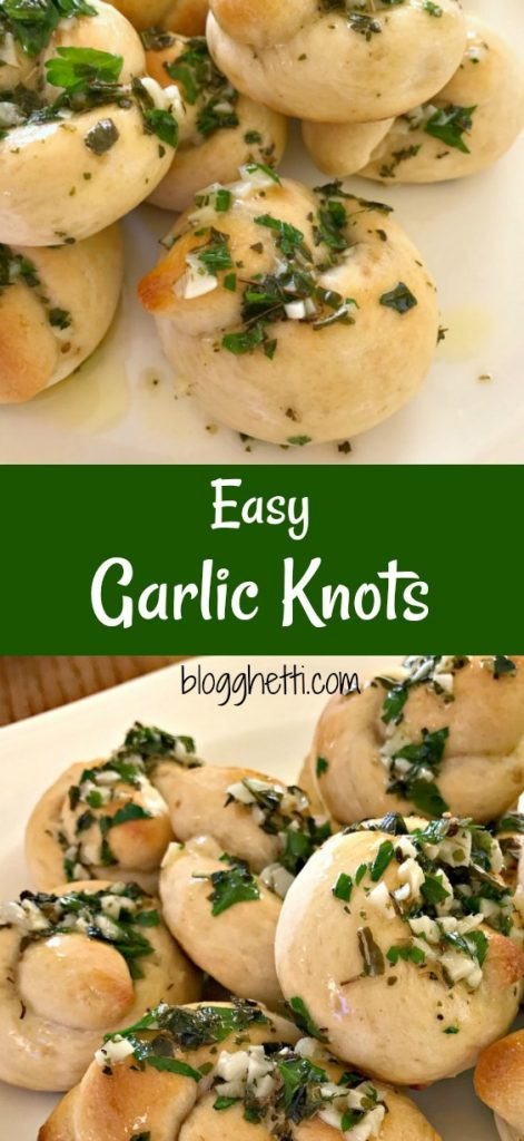 These Easy Garlic Knots are a fun twist on the classic garlic breadstick. Whether you dip them in marinara sauce or eat them as is, the don't take long to make and are delicious.