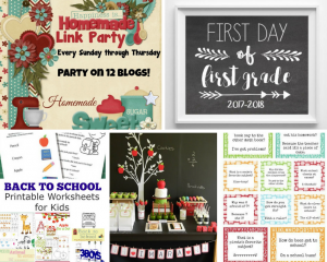 Happiness is Homemade:  Back to School Ideas