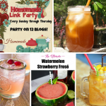 Welcome back to this week's Happiness is Homemade Link Party! This week's party is all about summertime drinks!
