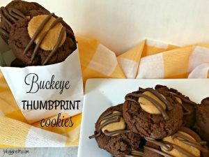 Buckeye Thumbprint Cookies