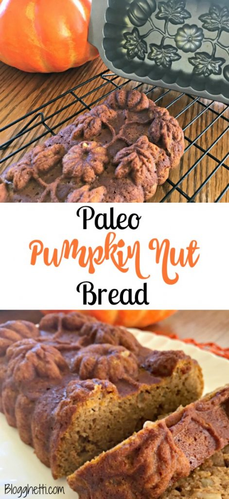Celebrate fall flavors with this healthy and delicious Paleo Pumpkin Nut Bread. Made with almond flour, real pumpkin, and uses honey as the sweetener.