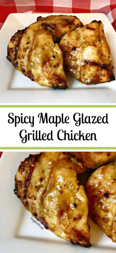 The tangy-sweet flavor combination in this Spicy Maple Glazed Grilled Chicken is pure deliciousness and is ready in less than 20 minutes.