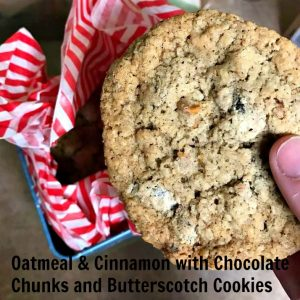 Oatmeal with Chocolate Chunks and Butterscotch chips from Jennifer Bakes