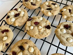 Soft & Chewy Cranberry White Chocolate Chip Cookies #FBLCookieExchange