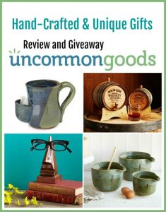 Uncommon Goods has the perfect gift for those picky or one-of-a-kind person on your gift list.  Quality hand-crafted and unique gifts that will become memorable treasures for  years.