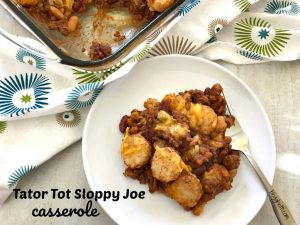 Tator Tot Sloppy Joe Casserole
