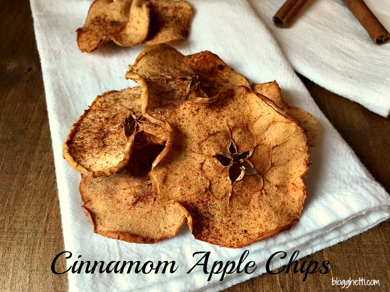 Crispy Baked Cinnamon Apple Chips are a simple and delicious snack idea for anyone. They're easy to make; just slice, sprinkle, and bake!