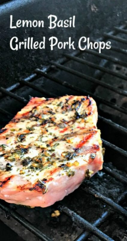Lemon Basil Grilled Pork Chops are bursting with flavor from the quick 20 minute marinade and then grilled to perfection. Healthy, tender, and moist; this pork chop recipe is perfect for everyday dinner.