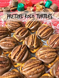 Pretzel Rolo Turtles are simple and delicious with only three ingredients and three easy steps. They're a gooey, chocolaty, sweet & salty crunchy treat that everyone will love.