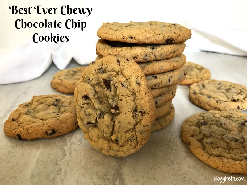 Your quest for the best ever chewy chocolate chip cookie recipe is over. This fabulous chocolate chip cookie is crisp on the outside, soft, and chewy on the inside. Perfection!
