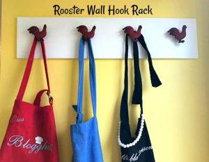 DIY Rooster Wall Hook Rack