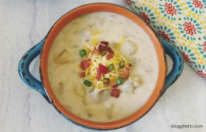 Slow Cooker Creamy Potato Soup, soup, slow cooker
