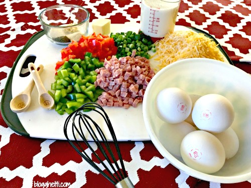 Western Omelet Quiche Ingredients
