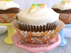 Homemade Carrot Cake Cupcakes #FantasticalFoodFight