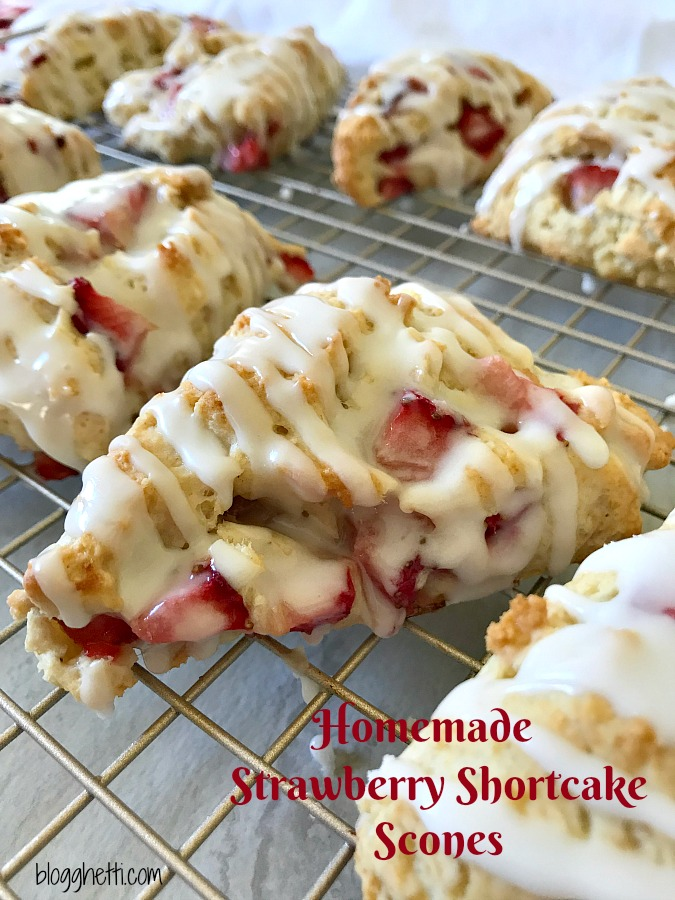 Homemade Strawberry Shortcake Scones