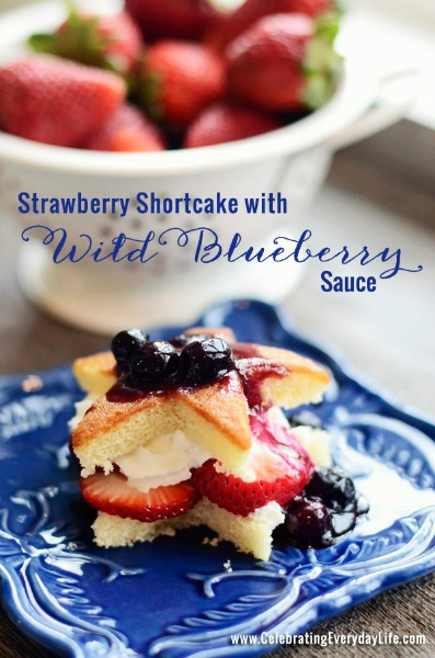 Strawberry Shortcake with Wild blueberry sauce