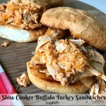 Slow Cooker Buffalo Turkey Sandwiches
