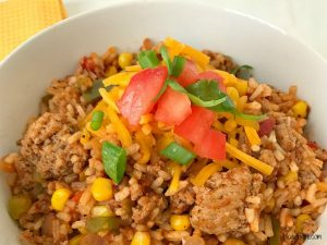Turkey Taco Skillet (One Pan Dinner) #turkey #taco #onepan