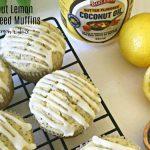 Coconut Lemon Poppy Seed Muffins with Lemon Glaze #CookoutWeek