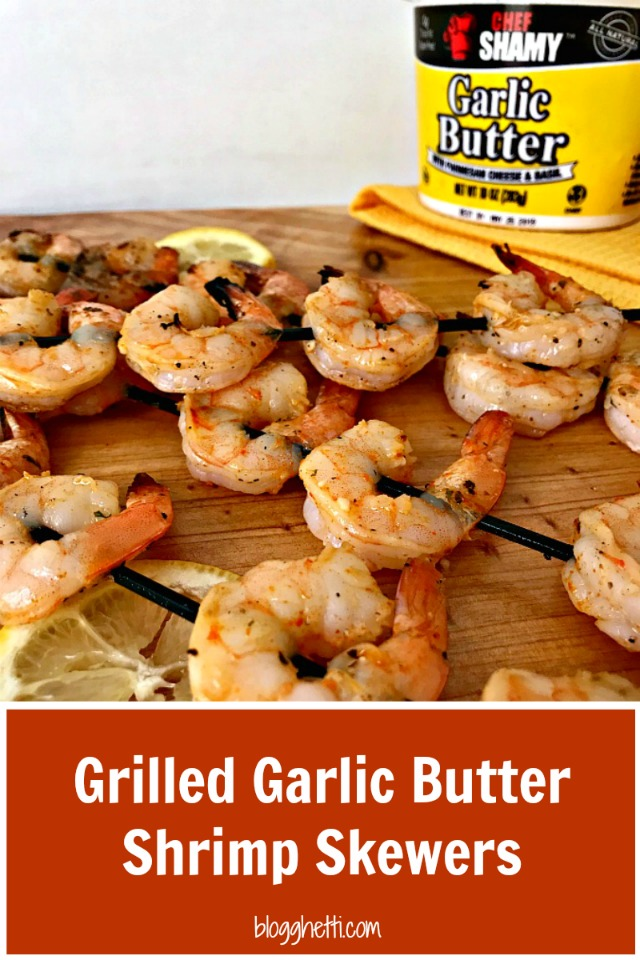 Garlic Butter #Grilled #Shrimp Skewers