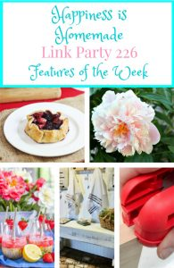 Happiness is Homemade Link Party: Flowers, Berries, and DIY