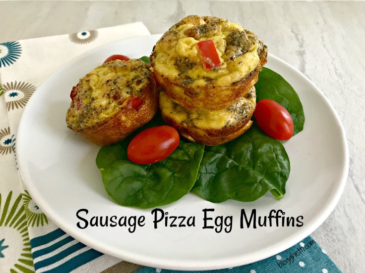 Sausage Pizza Egg Muffins (Paleo)