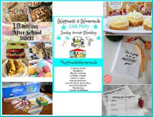 Happiness is Homemade Link Party: Back to School Edition