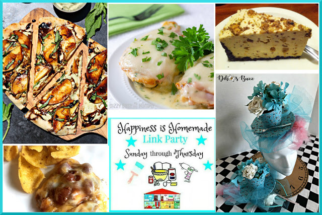 Happiness is Homemade Link Party features 8-5-18