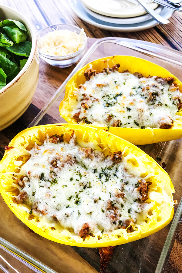 Easy-Baked-Spaghetti-Squash-with-Meat-Sauce-Recipe-Home Cooking Memories