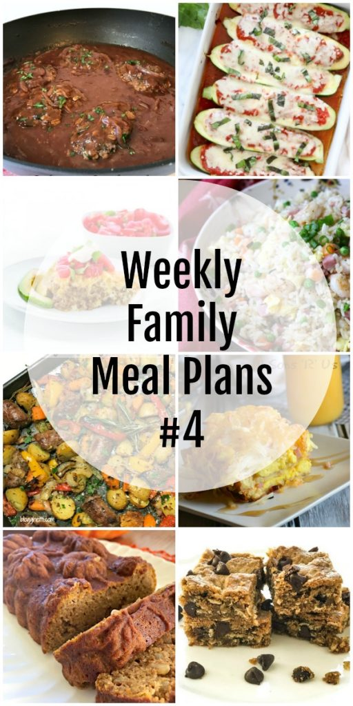 Weekly Family Meal Plans #4