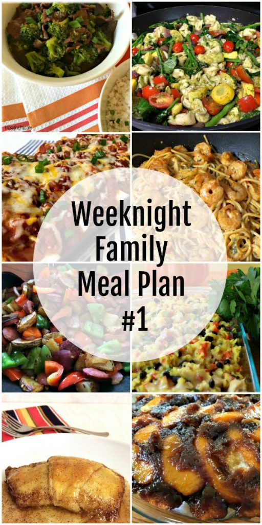 Weeknight Family Meal Plans #1