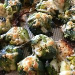 Cheesy Smashed Roasted Brussels Sprouts