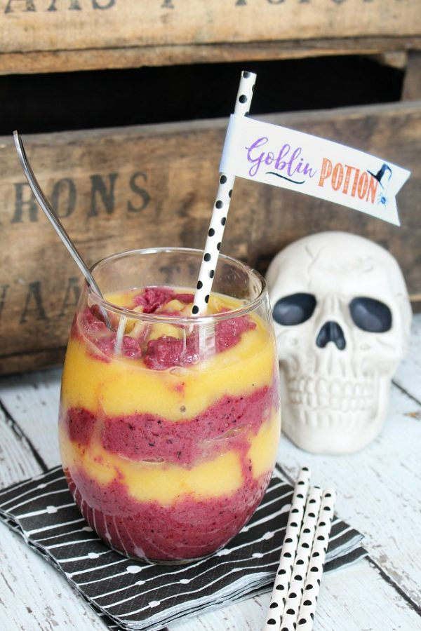Goblin Potion Healthy Halloween Smoothie from Clean and Scentsible