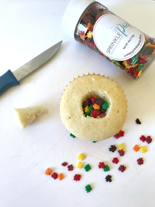Pinata cupcake filling
