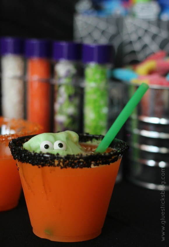 Little Green Monstor Halloween Punch - Glue Sticks