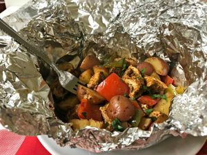 Paleo Chicken and Potato Fajita Foil Packs - feature